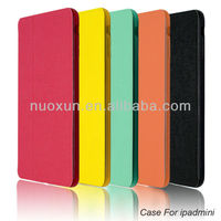 Latest design leather case for ipad mini smart cover