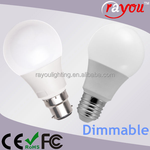 AC85-265V 7 watt led lighting bulb, warm white e27 led bulb light, dimmable bulb light led