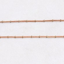 Raw Trible Link Brass Jewelry Cable Chain With Ball Bead