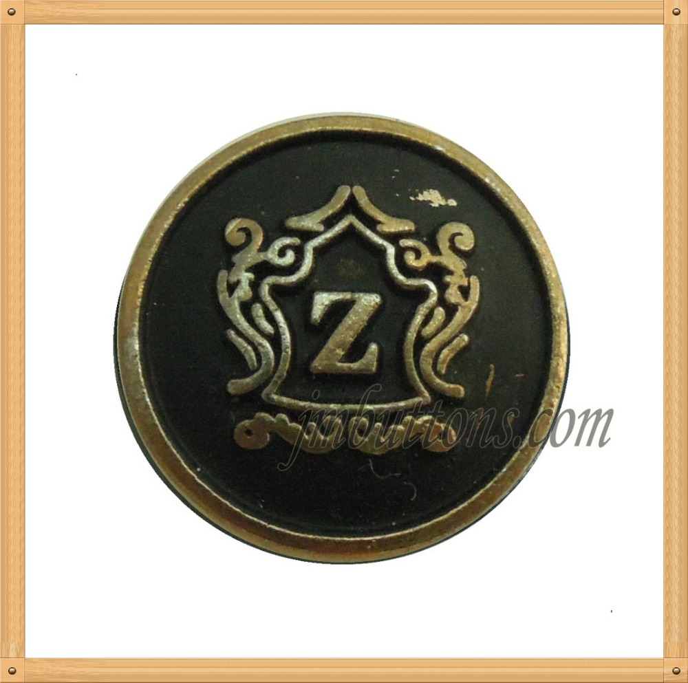 black fasteners design logo uniform coat button for apparel