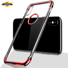 Electroplated TPU Case For Iphonex Clear Ultra Slim Back Cover For Iphone x