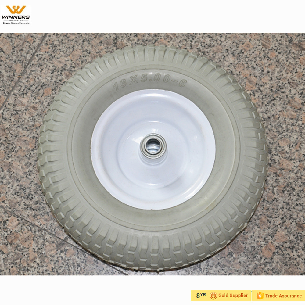 13x5.00-6 solid pu foam garden wheels