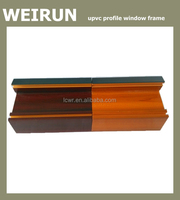 60 Series Woodlike Surface Drawbench Window Frame UPVC Profile