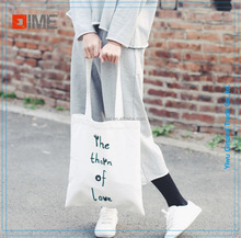 White Blank Color Canvas Tote Bag cotton bag