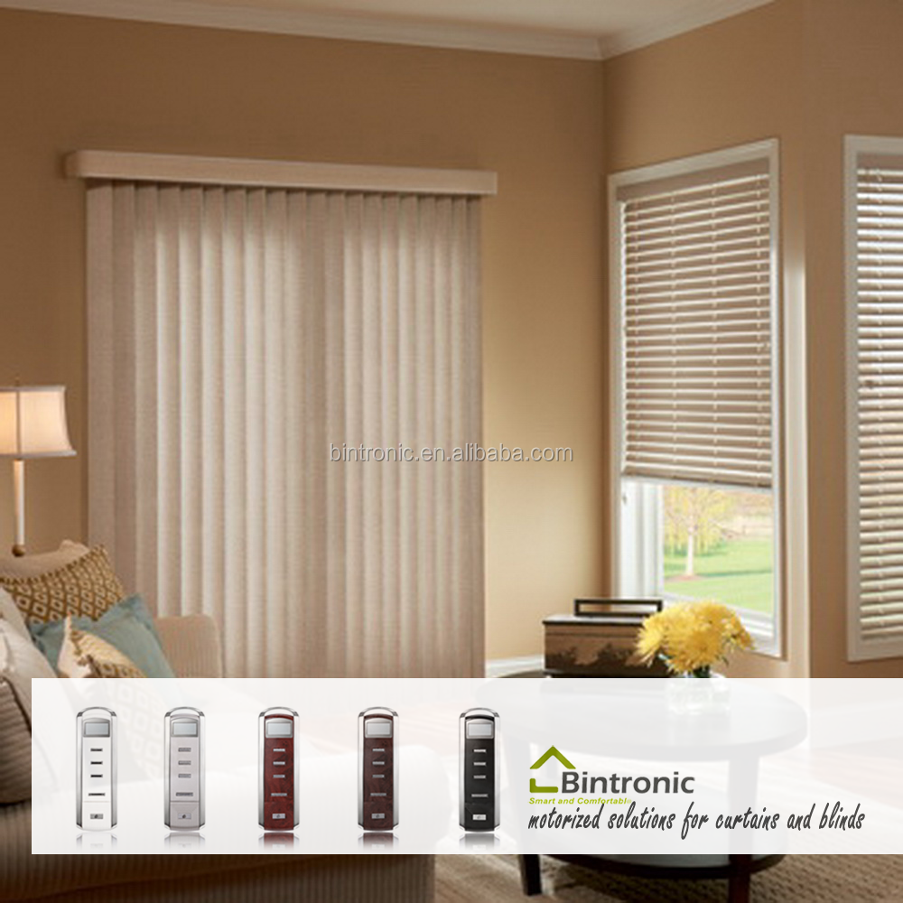Bintronic Taiwan Automatic Vertical Blinds Motorized Vertical Blinds Motores Para Persianas Verticales