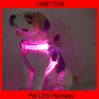 Colorful High-Light LED dog harness,Flashing LED safe pet collar ,dog led collars and leashes