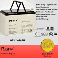 Super reliable durable rechargeable lead acid battery for high power solar system and Hydraulic pump station battery 12V90ah