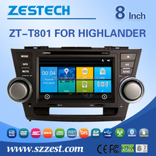 For toyota highlander car dvd gps navigation system 8 inch car headrest dvd player auto parts with Rearview camera GPS DVD BT