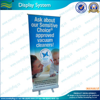 Economic Aluminum Roll Up Banner Stand 6x3 ft