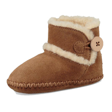 2017 suede leather upper soft-soled ankle boot winter boot baby toddler shoes