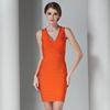 Irisfox N42 New arrival wholesale elegant top quality rayon bandage dress