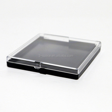 portable Small hinged lid plastic Clear Top Lapel Pin Box