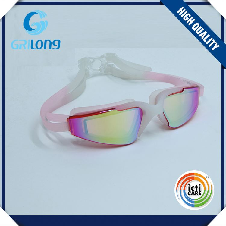 New products attractive style cheap customized logo strap adults swimming goggles