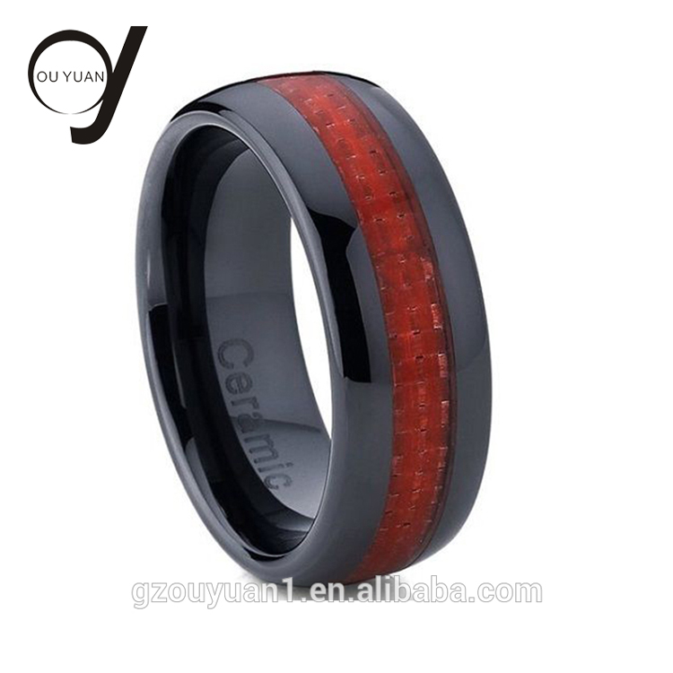 Porcelain Men's <strong>Rings</strong> Carbon Fiber Inlay Ladies Ceramic Jewelry Blank Ceramic <strong>Ring</strong>