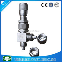 stainless steel micro metering high quality angle needle valve