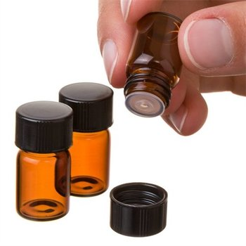 China hot sale 2ml small amber essential oil vials , 2ml amber glass vials