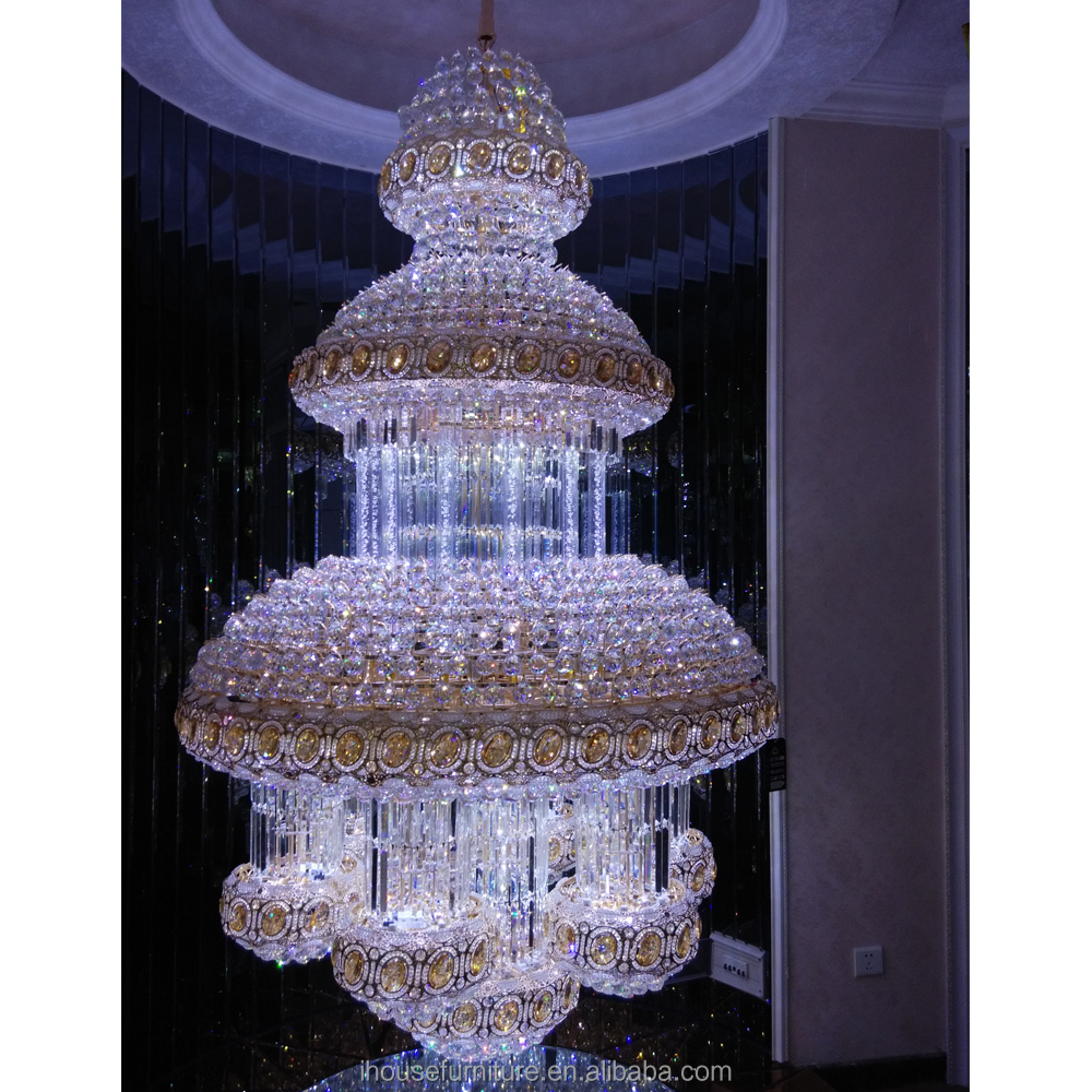 China Made Vintage White Quartz Crystal Lamp/White Chandelier/White Pendant Light Round Design