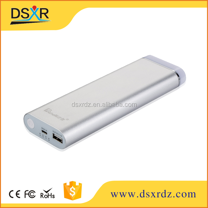 high capacity 15000mah led torch light portable power bank for iphone