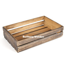 shabby chic wooden slatted crate box for custom and wholesale