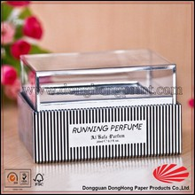High quality custom printed small clear plastic packaging boxes with lids