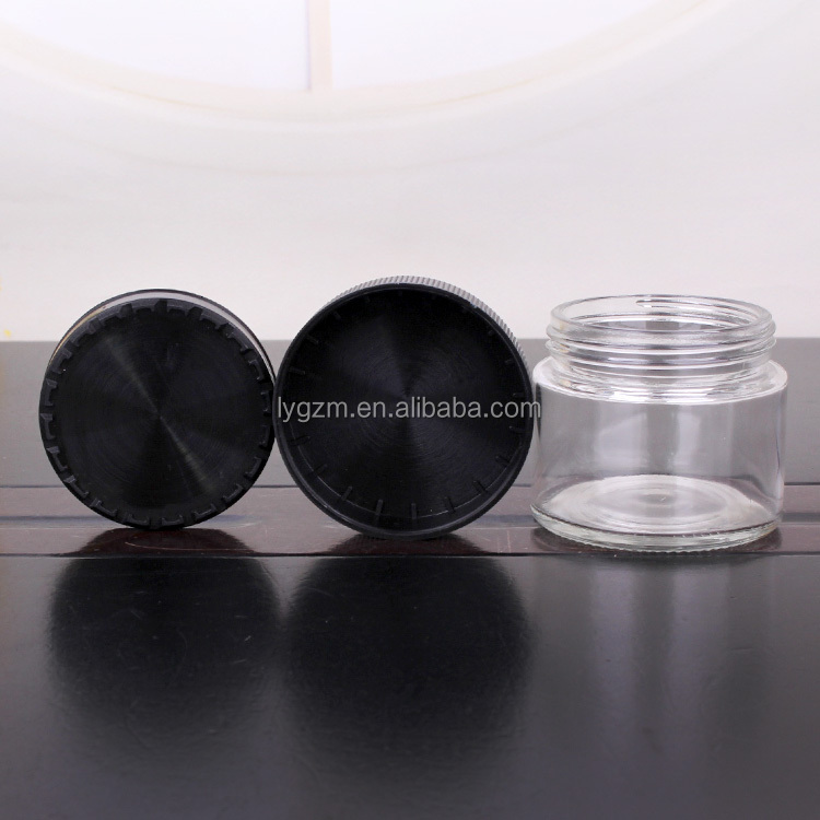Factory supply glass jar cream jar 60ml 155ml with childproof lid
