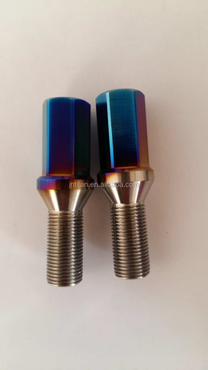 Gr5 titanium wheel bolt for BMW