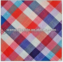 100% cotton yarn dyed big check plaid poplin