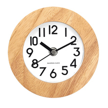 Hot sale stand wooden table clock