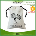 customized 8 OZ thick one color printed natural cotton canvas drawstring bag alibaba trade assurance