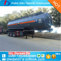 carbon steel oil tanker truck 20cbm-50cbm 3 axle flat bed semi trailers fuel and oil semi trailer