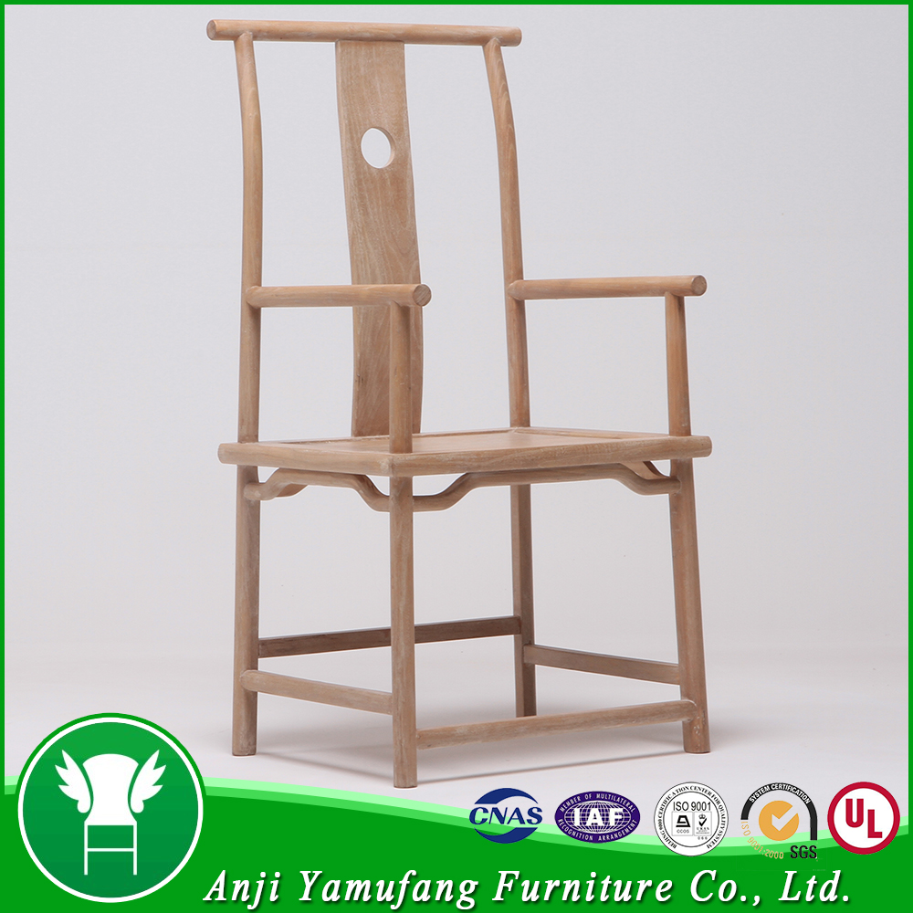 Famous Chinese Old Style Deluxe Rustic Wood Carved Chair For Living Room Furniture