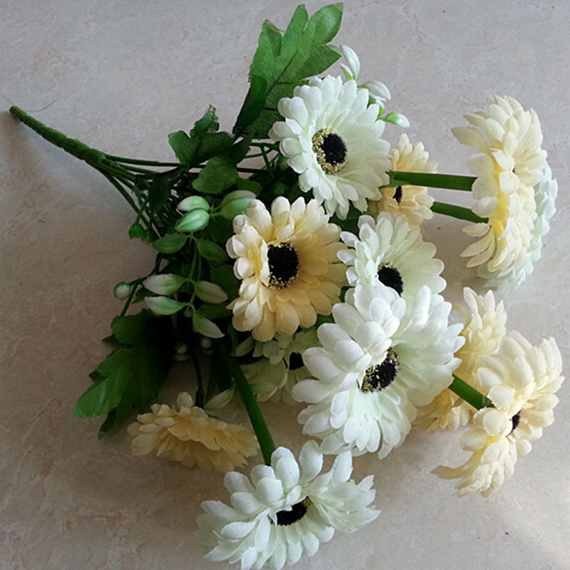 import natural daisy artificial flowers for funeral wreaths artificial funeral flowers