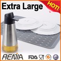 RENJIA collapsible sink dish drainer silicone dish drying mat roll Drain mat