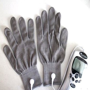 Silver fiber physical therapy gloves