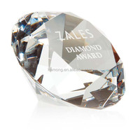 Optical Glass Crystal paper weight diamond with clear color