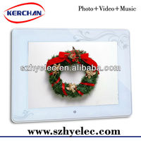 white digital picture frame/4:3 Display Ratio 8inch lcd monitor