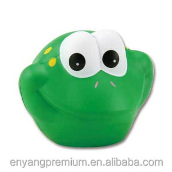 Frog funny face PU stress ball Promotion Gift antistress toys