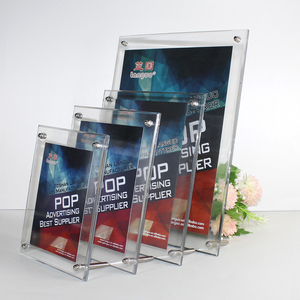Acrylic desktop photos show display stand A3 A4 A5 A6 plastic display rack