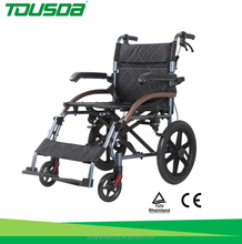 Foldable lightweight aluminum wheelchair with CE
