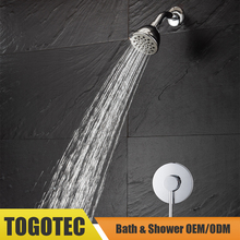 In-Wall Shower Set with ABS Rain Shower Head, Shower Trim Kit, includes Brass Shower Valve and Stainless Steel Shower Arm