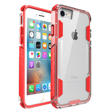 Alibaba Retail Shockproof Hybrid TPE Bumper Clear Plastic Cell Phone Accesories Case for iPhone7