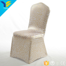 Custom gold party wedding decoration ruched spandex luxury chair cover