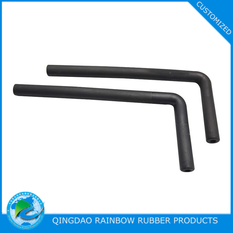 Custom molded silicone rubber elbow hose