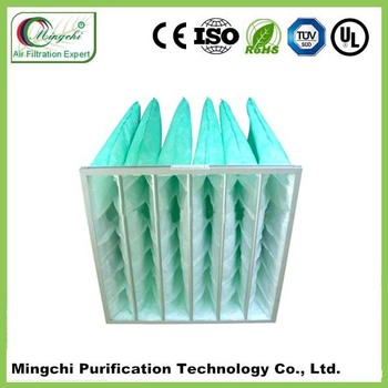 Alibaba china supplier F5 F6 F7 F8 bag air Filter with aluminum frame white green pink yellow bag filter