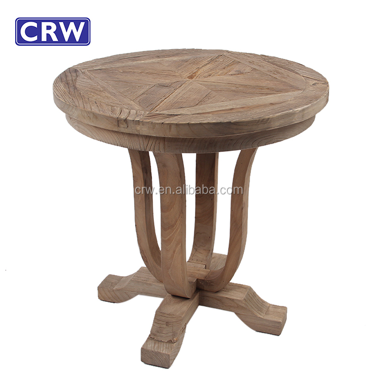 RE-1623 Reclaimed Rough Wood Top Furniture Rustic Coffee Table
