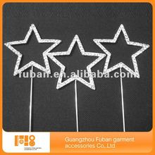 high quality star rhinestone cake topper for wedding table cake decoration
