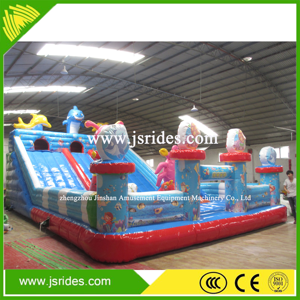 2016 Hot sale Jungle inflatable combo, inflatable castle slide, inflatable bouncing castle for kids