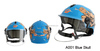 Blue Skull Cartoon On Road Helmet Motorcycle Helmet Half Face Helmet