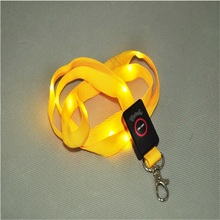 ED Light Up Lanyard key chain ID Badge Necklace Keys Holder Flashing - 5 Colors