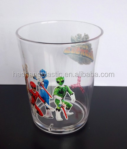 220ml/300ml plastic cup with heat transfer printing silkscreen printing